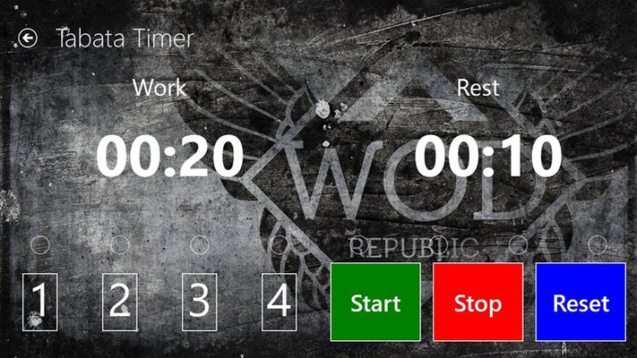 Crossfit-style Tabata timer