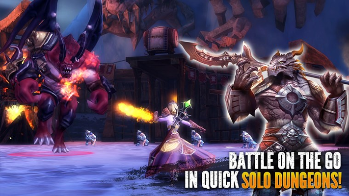 BATTLE ON THE GO  IN QUICK SOLO DUNGEONS!