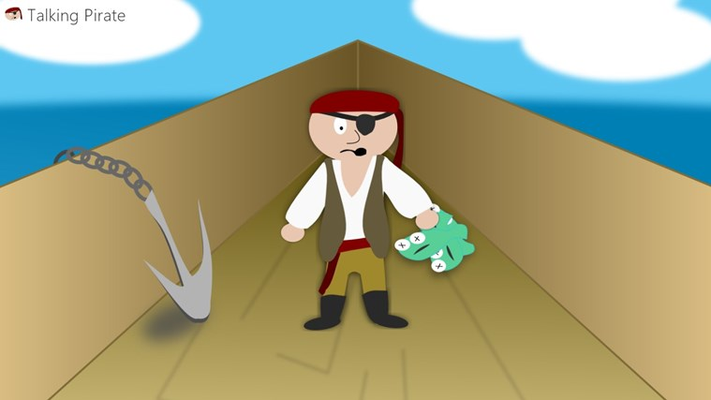 This pirate will brighten your day!