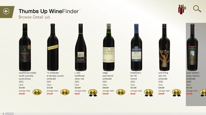 Thumbs Up WineFinder for Windows 8