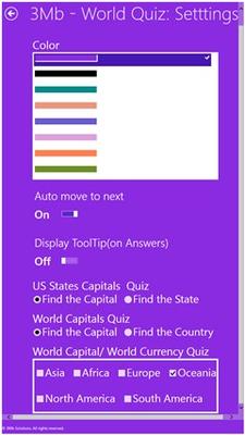 3Mb - World Quiz for Windows 8