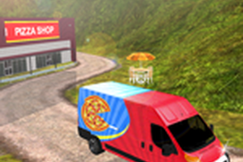 City Pizza Delivery Van 3D - Off Road Driving Duty