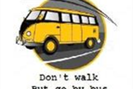 Don't walk but go by bus