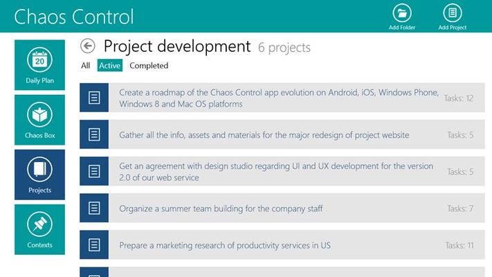 Chaos Control for Windows 8
