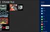 Steam Tile for Windows 8