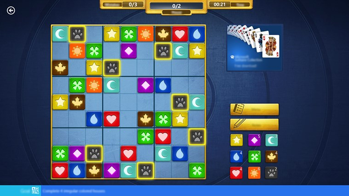 In Symbol Sudoku, you can forget about numbers and focus on the colors and symbols