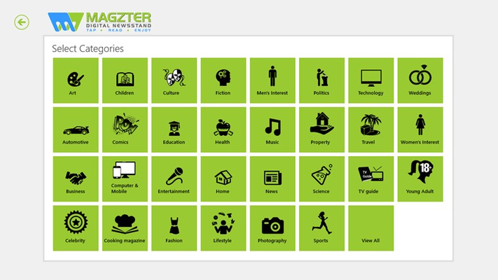 Magzter for Windows 8