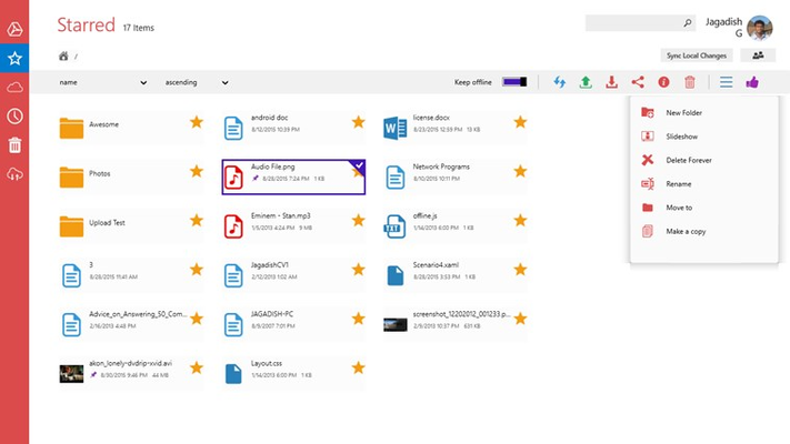 Touch Client for Google Drive for Windows 8