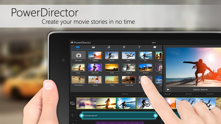 Create your movie stories in no time