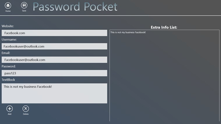 This is the page where users create their passwords