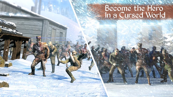 Fight against a horde of zombies