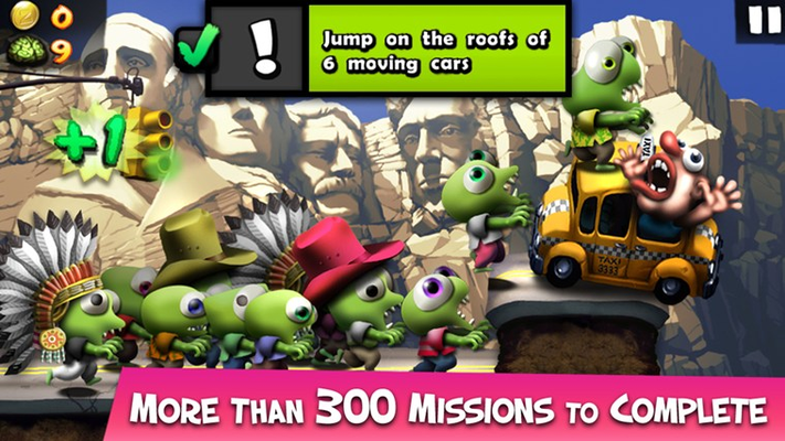 More than 300 missions to complete