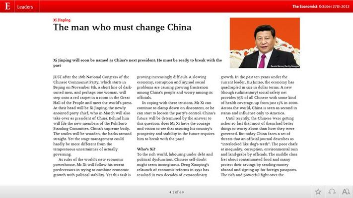 The Economist on Windows for Windows 8