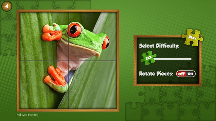 Play easy to very difficult puzzles from 2x2 to 16x16 (256 pieces), with or without rotation