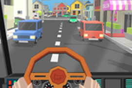 City Tourist Bus Driver - Blocky World Roads Drive