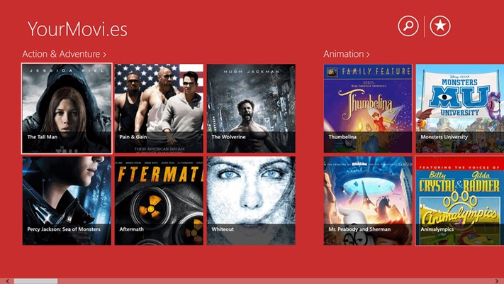 YourMovi.es is an app that gives you the green light to uncut box-office movies in HD quality.