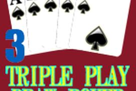 Triple 3 Play Draw Poker