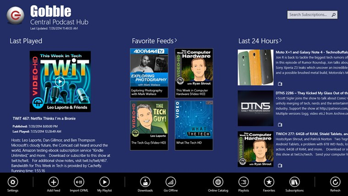 Podcast Hub allows you to track your favorite shows