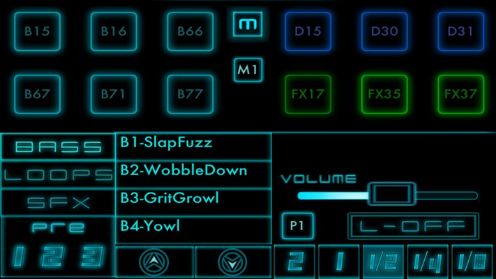 Select from a huge range of loop, bass sounds and fx and adjust the loop duration for each sound