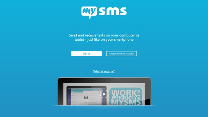 Send and receive SMS on your Windows PC or tablet via your Android phone