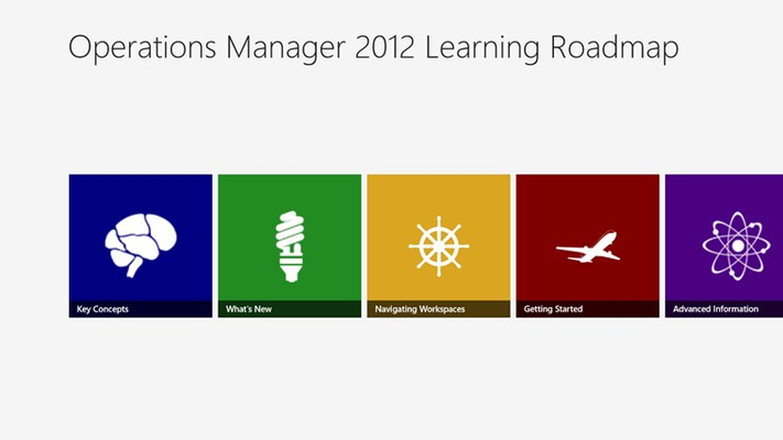 Operations Manager 2012 Learning Roadmap for Windows 8