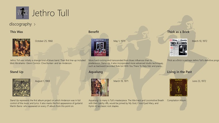 Official Discography of 43 Albums by Jethro Tull and Ian Anderson