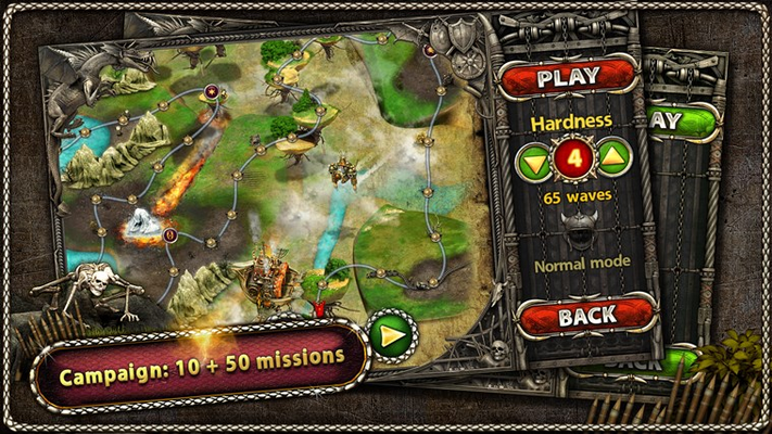 Campaign: 10 + 50 missions