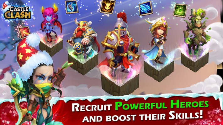 RECRUIT POWERFUL HEROES AND BOOST THEIR SKILLS!