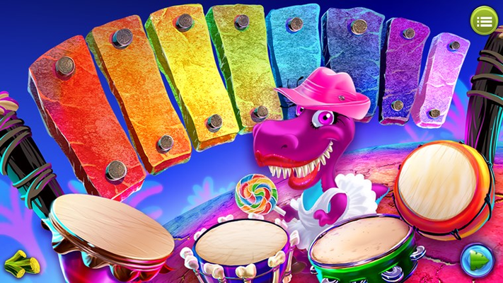 Be a Dino rock star and make music!