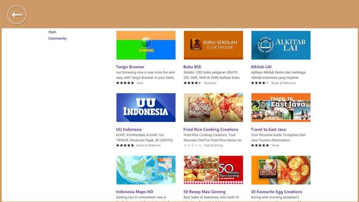 Terdapat beberapa aplikasi lain dari Mahoni.com, yang bisa di dapat dengan mendownload melaui Windows Store.