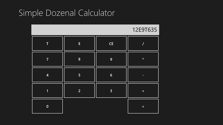 The Calculator with a Dozenal Number on the screen.