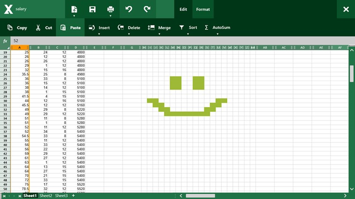 Work with Excel documents and enjoy :)