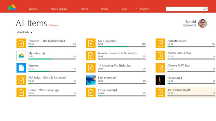 Downloads progress