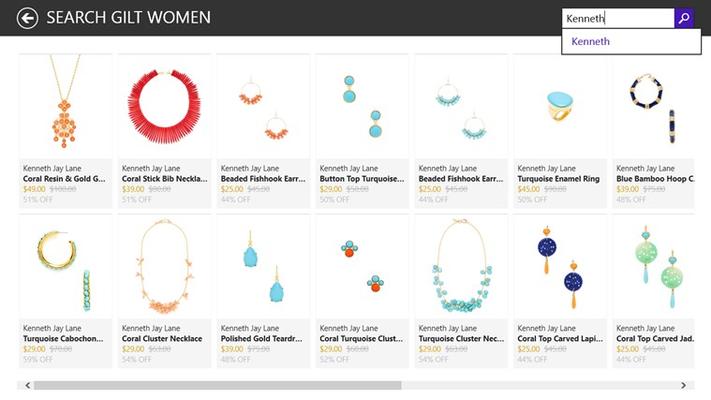 Search in women store