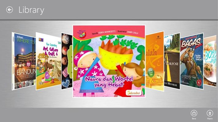 Aplikasi Toko Buku memuat berbagai koleksi bacaan, termasuk buku bacaan untuk anak, seperti buku cerita, buku pelajaran ataupun komik.