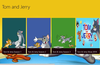 Main Page Displaying different shows of Tom and Jerry