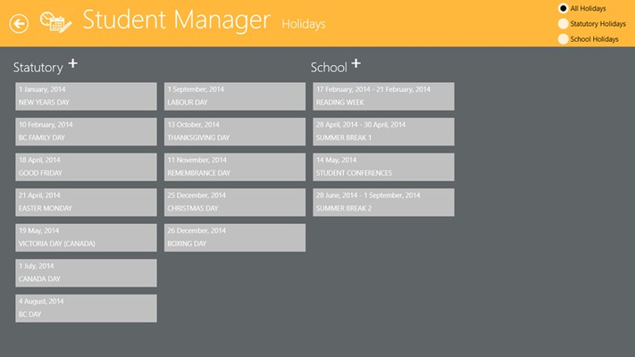 Student Manager for Windows 8