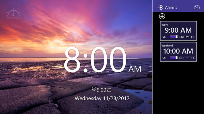 Create multiple alarms and easily toggle them on and off.