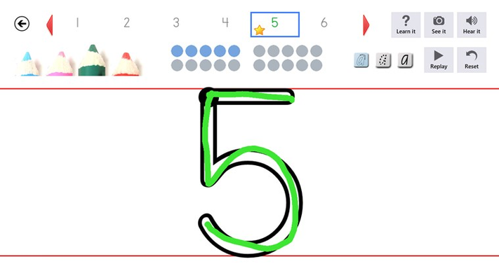 Numbers letters with sounds and images.