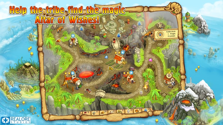 Help the tribe find the magic Altar of Wishes!