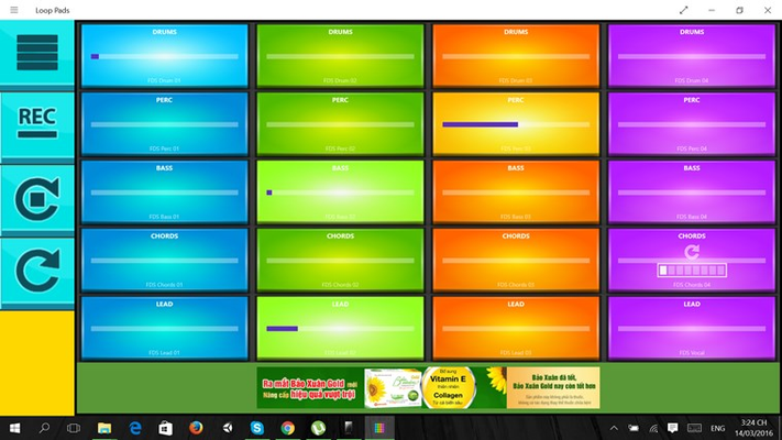 Electric Loop Pads for Windows 8