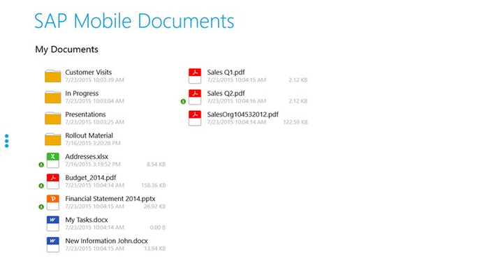 Sync documents for offline access