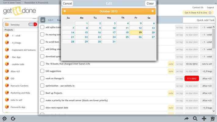 Schedule your tasks for a later date.