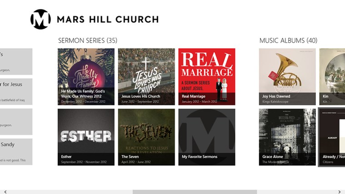 Main page sermon series
