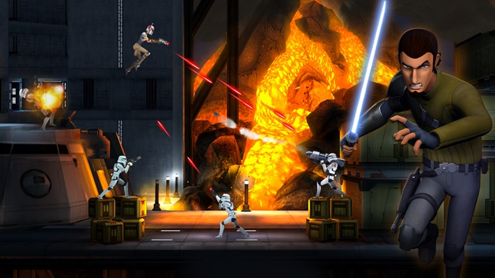 • Use your blaster and Lightsaber™ skills • Fight the Empire with your Lightsaber™ and blaster
