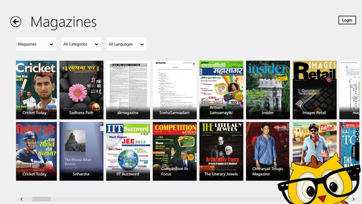 Enables filtering of publications on basis of categories and languages