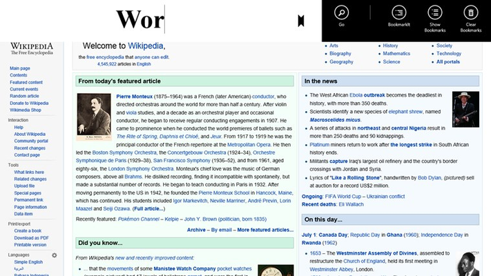 Wikipedia Surfer for Windows 8