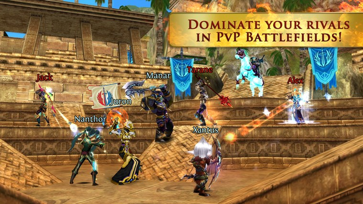 Dominate your rivals on PvP battlefields!