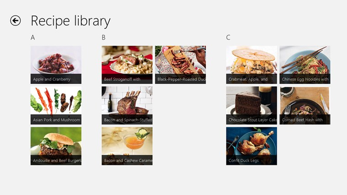 Build your personal recipe library. After saving your favorite recipes to Chef, say goodbye to annoying ads, embrace the beautiful Chrome-less Windows 8 experience.