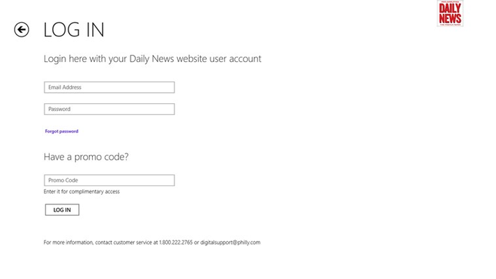 Subscriber Log-in or Promo Code trials (available in Daily News paper or social share)